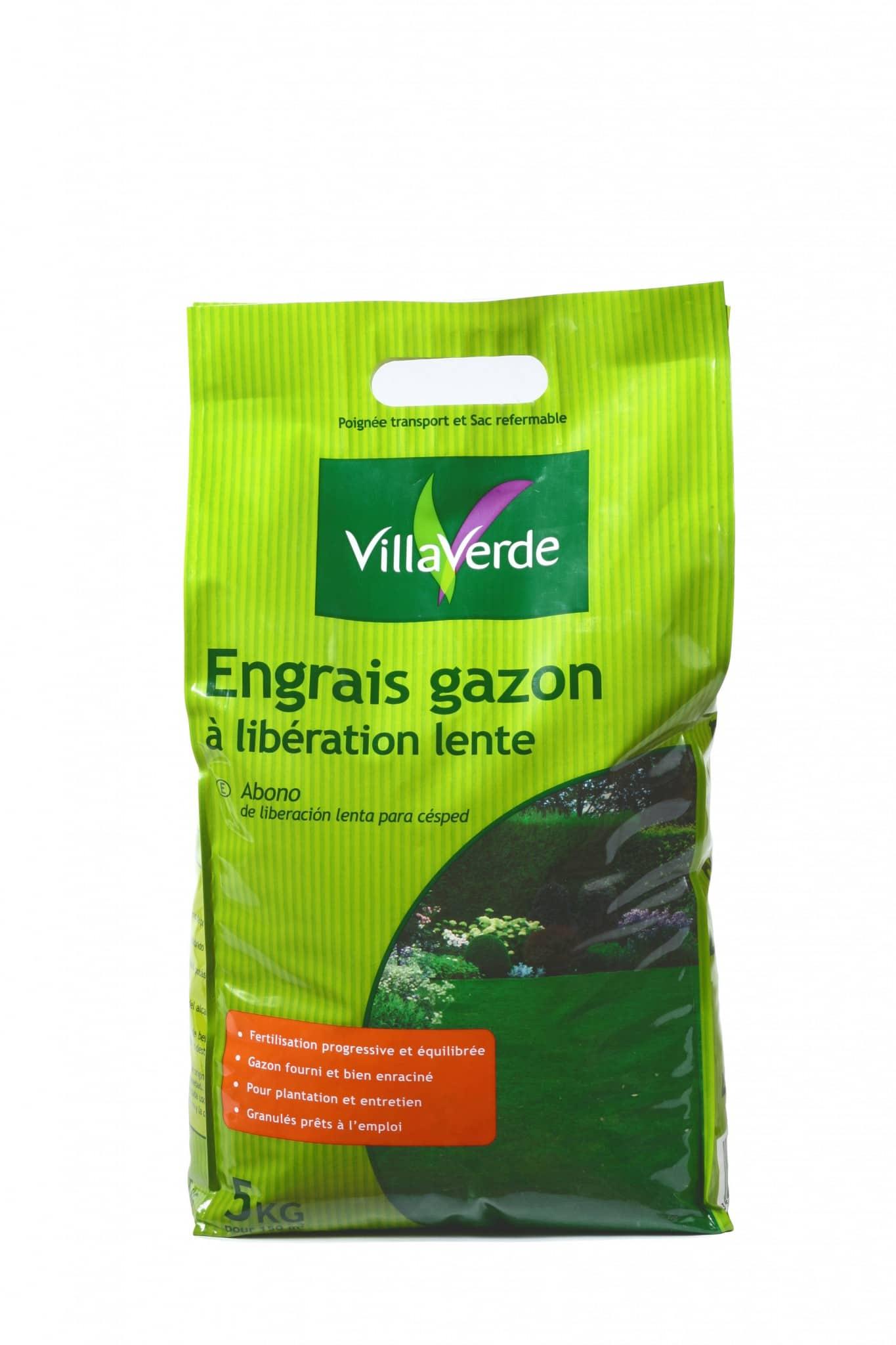 Engrais gazon à libération lente sac de 5kg