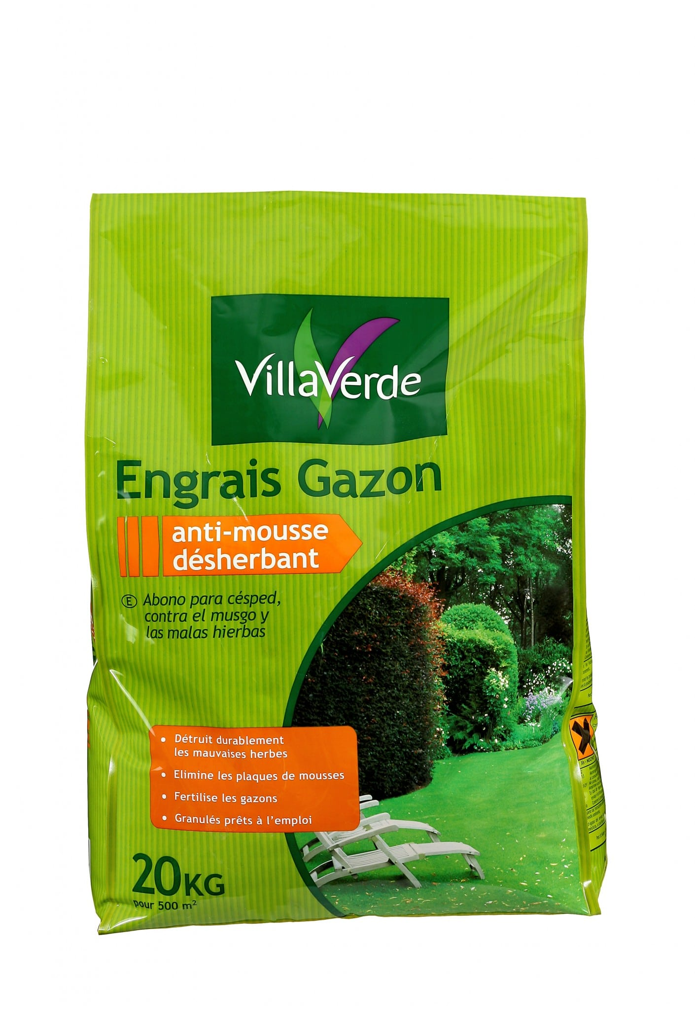 Gazon anti mousse désherbant 20 kg