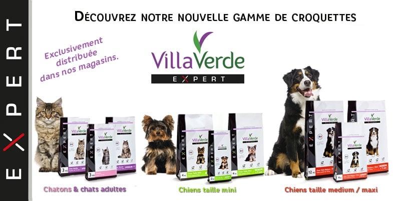 Découvrez la nouvelle gamme de croquettes VillaVerde EXPERT en exclusivité dans nos jardineries !