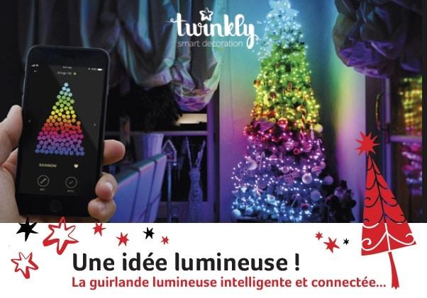 Lumières de Noël.  Réinventé.TWINKLY